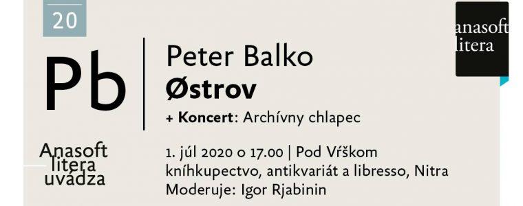 Alu 4 – pozývame na literárnu debatu s Petrom Balkom
