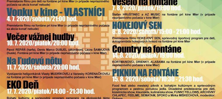 Hudba Na Fontáne Mestsky Urad Povazska Bystrica