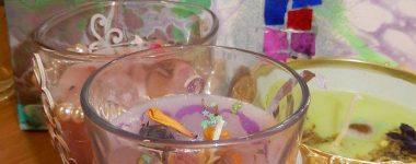 Voňavé sviečky v skle OZ Tvorivá dielňa