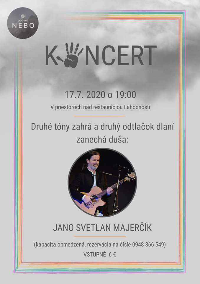 Koncert Jana Svetlan Majerčíka Lahodnosti