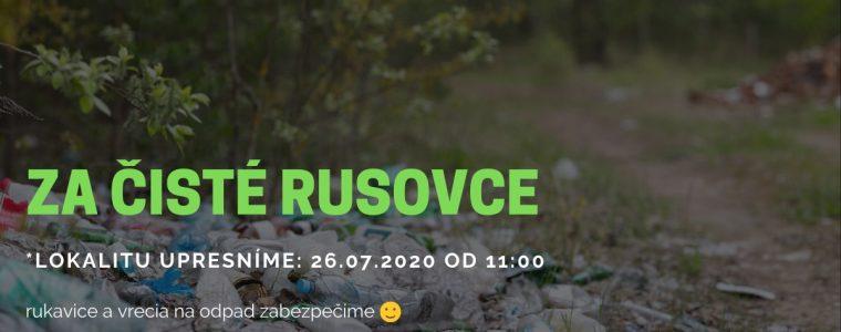 Za čisté Rusovce: 26.07.2020