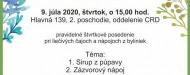 Letné bylinkové osvieženie Krajská knižnica P.O.Hviezdoslava v Prešove