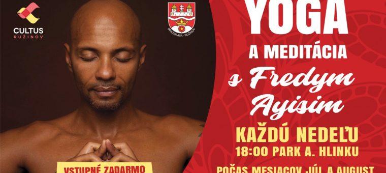 Yoga a meditácia s Fredym Ayisim Park Andreja Hlinku