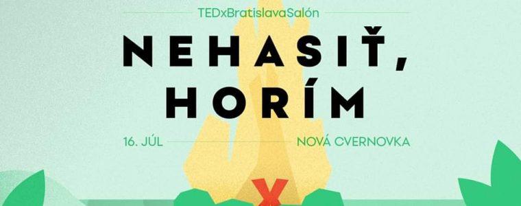 TEDx Bratislava Salon 2020: Nehasiť, horím