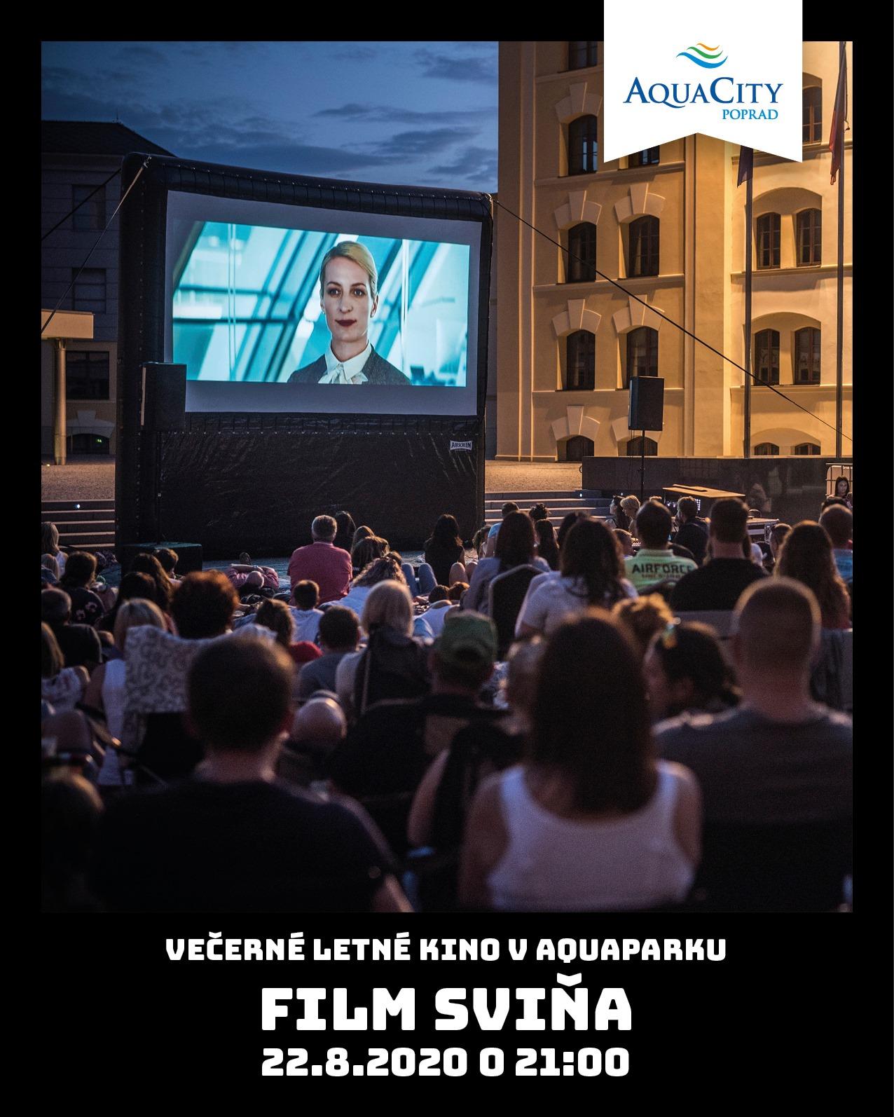 letné kino v aquaparku - film Sviňa