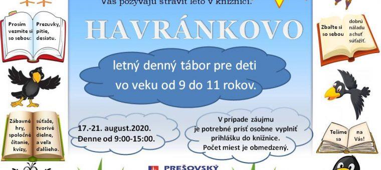 Letný denný tábor Havránkovo Podtatranská knižnica v Poprade
