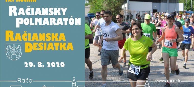 Račiansky polmaratón/desiatka 2020 Rača