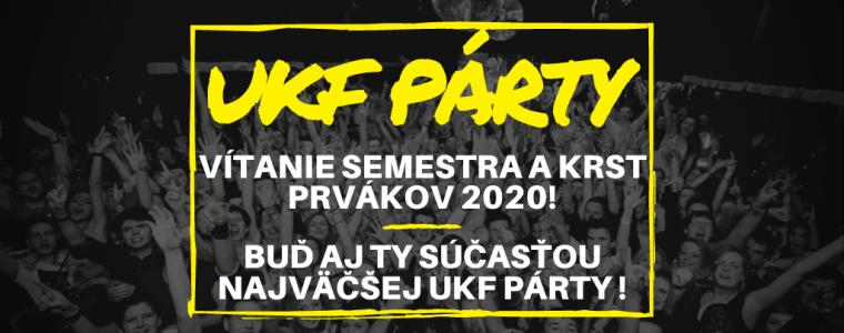 UKF Párty: Vítanie semestra a krst prvákov LUNA