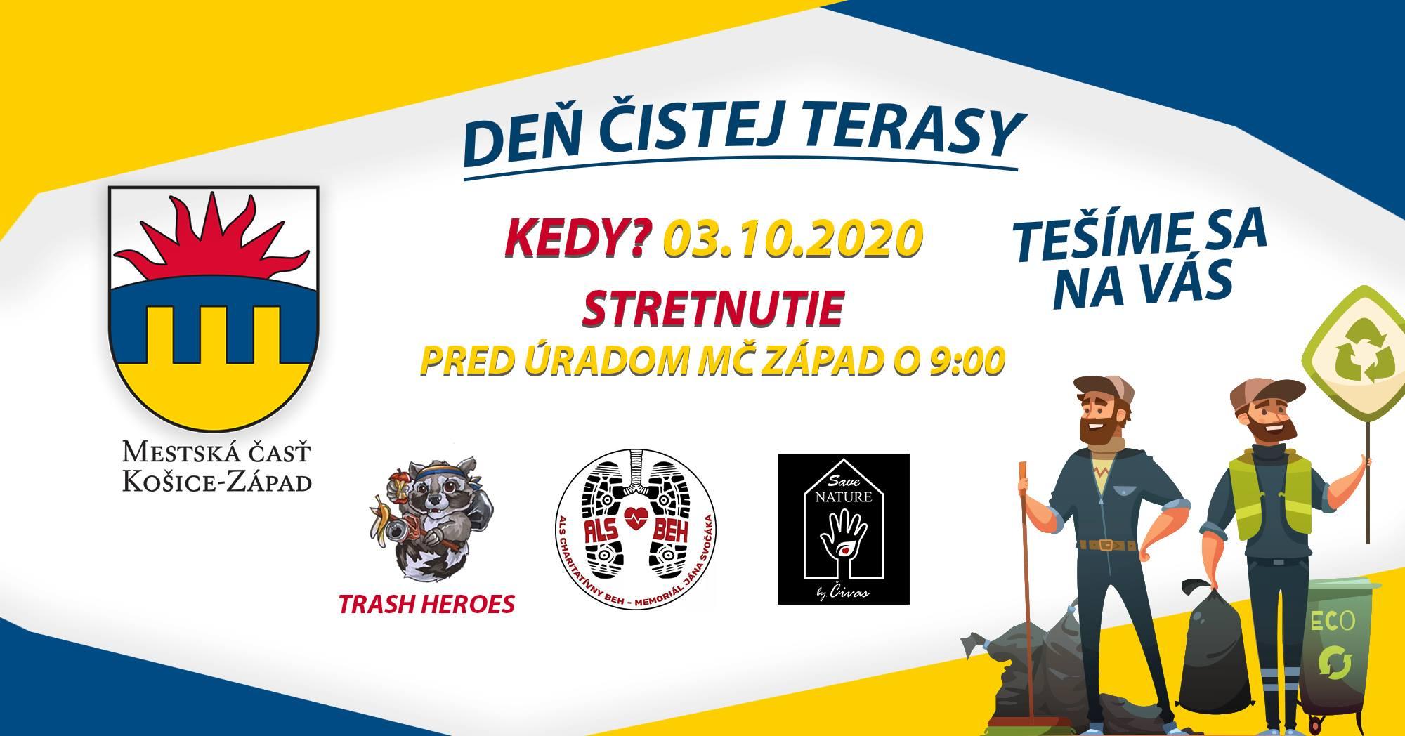 DEŇ ČISTEJ TERASY Košice Západ Terasa