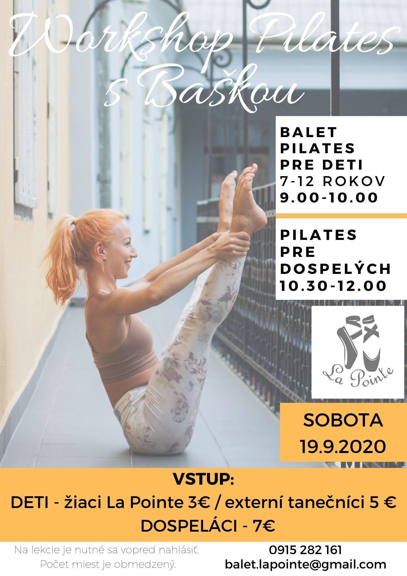 Workshop Pilates s Baškou Kadlecovou Galéria Jabloň