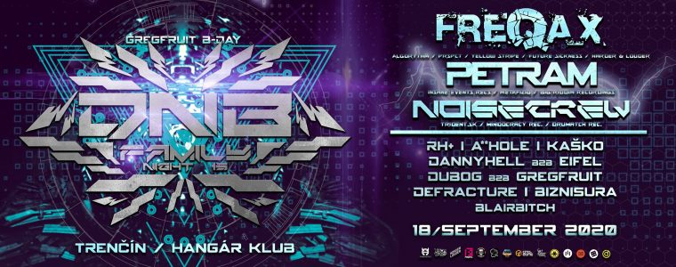 DNB Family Night num. 15/ Freqax, Petram, Noisecrew Hangár Klub