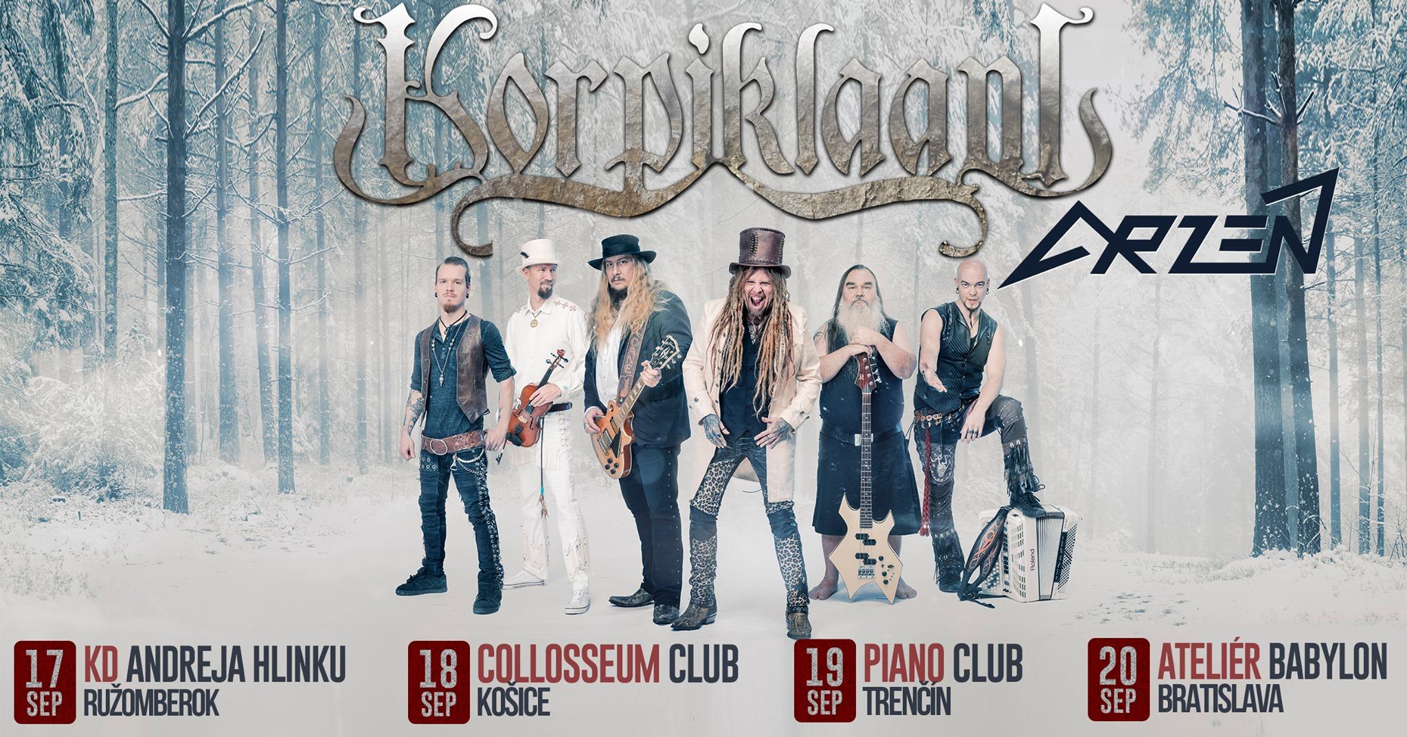 Korpiklaani & Arzén tour 2020 | Trenčín, Piano Club