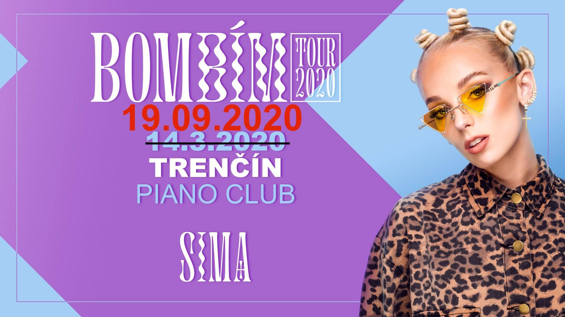 SIMA / Bombím tour - nový Termín Piano club
