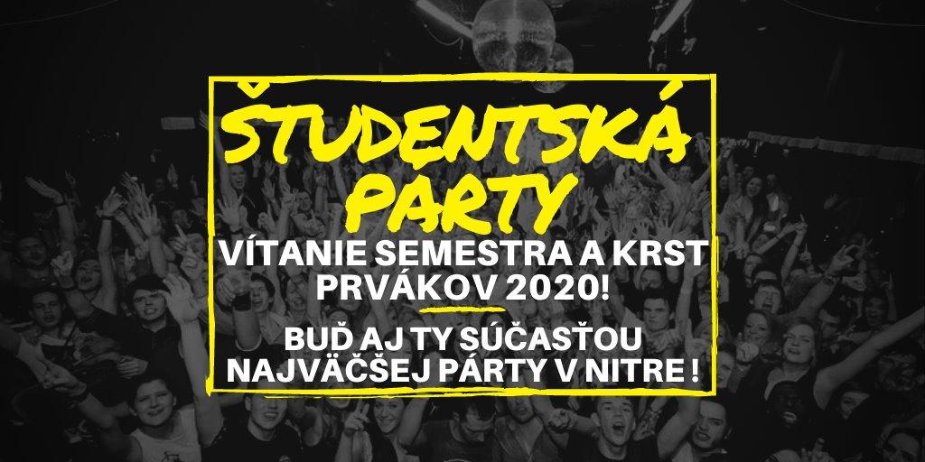 študentská party v Nitre: Vítanie semestra a krst prvákov 2020