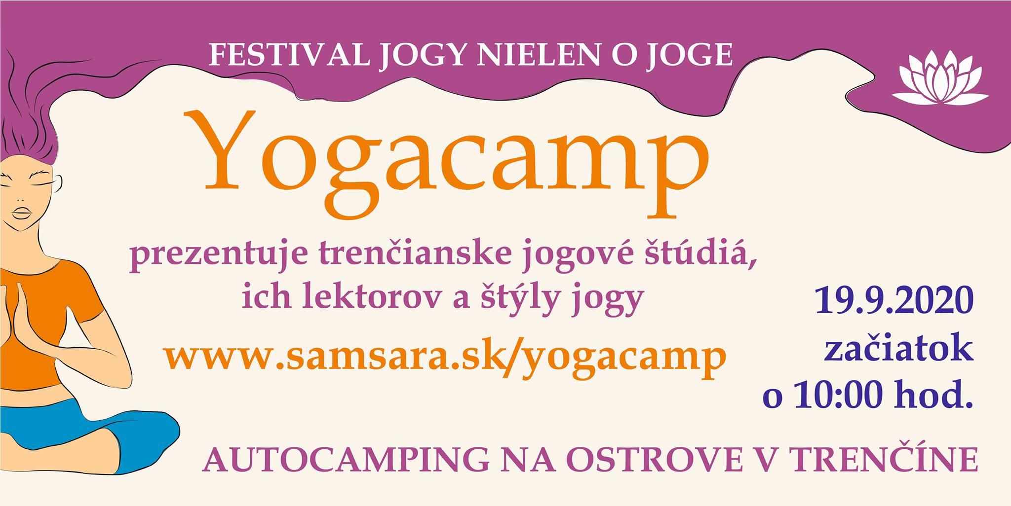 YOGACAMP Kemp na Ostrove Trenčín