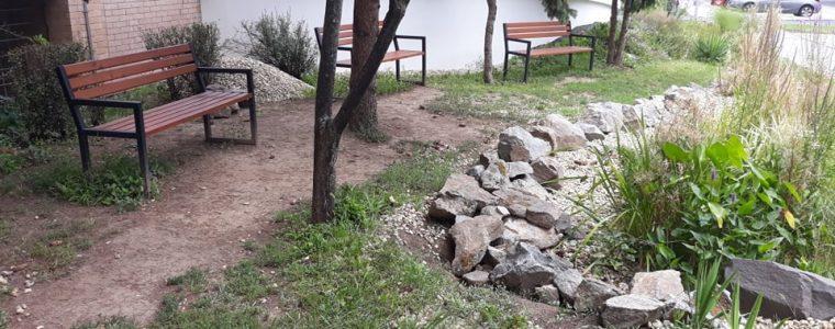 Skrášlenie okolia dažďovej záhrady pri geriatrii