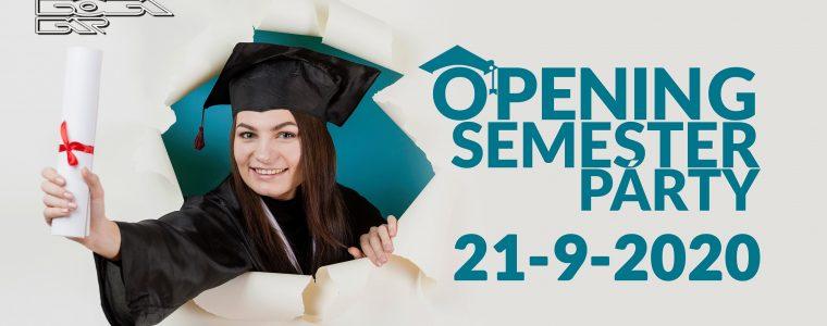 Opening Semester Párty • 21.9.2020 • BOBA Bar