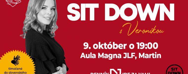 Sit Down s Veronikou v Martine / Denník N ide za vami