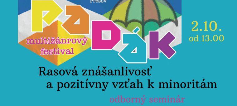 Rasová znášanlivosť a pozitívny vzťah k minoritám Viola Prešov