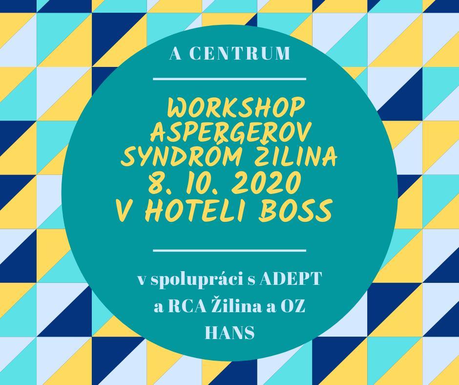 Worskhop Aspergerov syndróm Žilina Hotel Boss