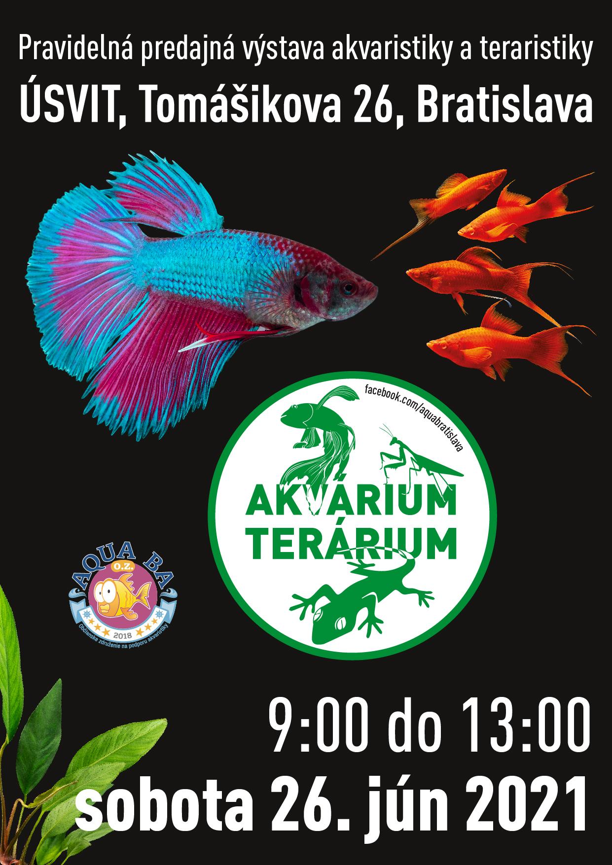 Predajná výstava Akvárium Terárium