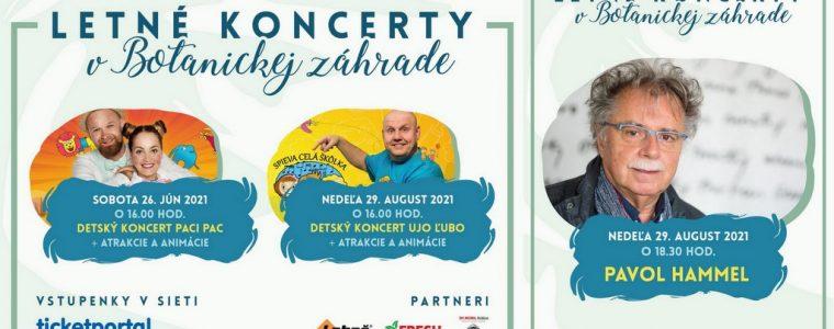 Augustový letný koncert Botanická zahrada UPJŠ Košice